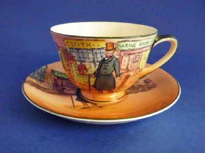 Fine Royal Doulton 'Mr. Micawber' Dickens Series 'A' Cup and Saucer D6327 c1949